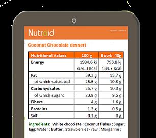 Food label analysis